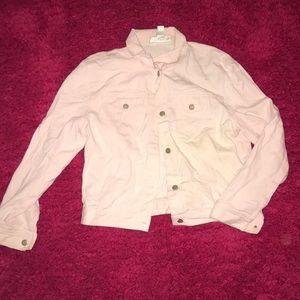 pink denim jacket 💛